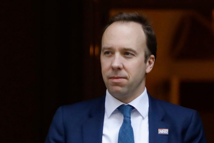 Matt Hancock, UK Health Minister. AFP/File