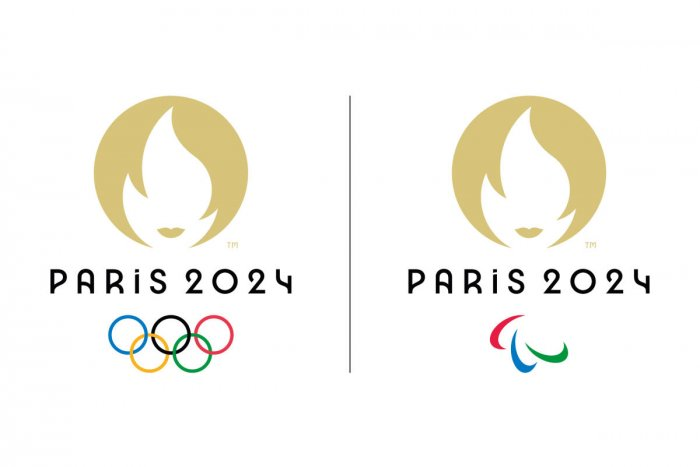 A file handout document provided by the Organizing Committee of the Paris 2024 Olympic and Paralympic Games on October 21, 2019 shows the logos of the Paris 2024 Olympic Games (L) and the Paralympics Games (R). Credit: AFP Photo