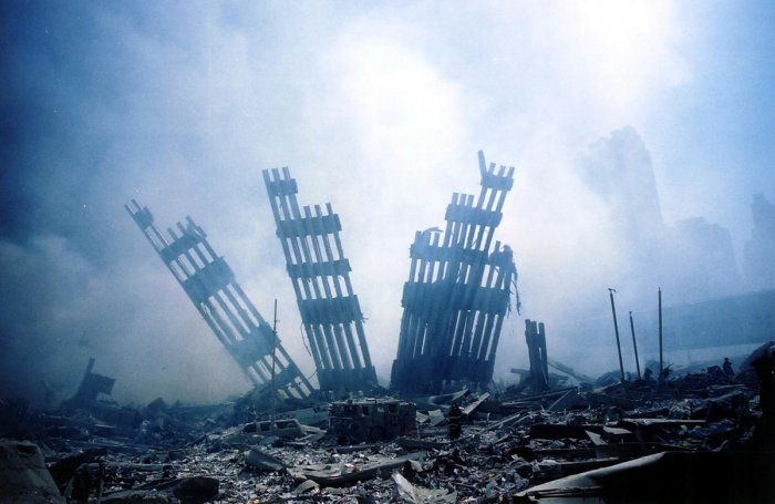 In this file photo taken on September 11, 2001 The rubble of the World Trade Center smoulders following a terrorist attack on September 11, 2001 in New York. AFP/File