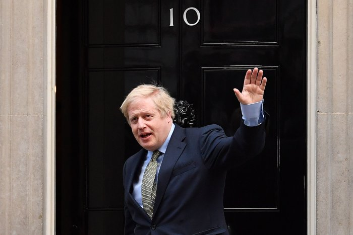 Britain's Prime Minister and Conservative Party leader Boris Johnson. (AFP Photo)