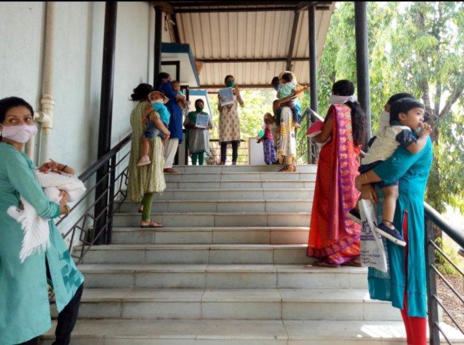 Routine immunization activities in Goa. Credit: Twitter (@MoHFW_INDIA)