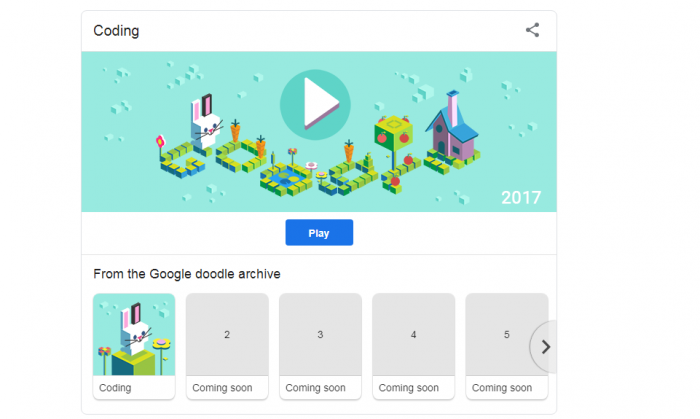 Go have some fun with Google's most popular doodles