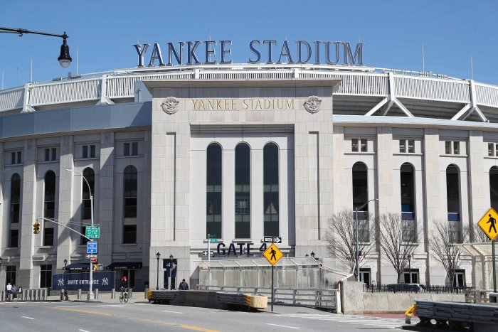 This file photo shows Yankee Stadium empty on the scheduled date for Opening Day March 26, 2020 in the Bronx, New York. (AFP)