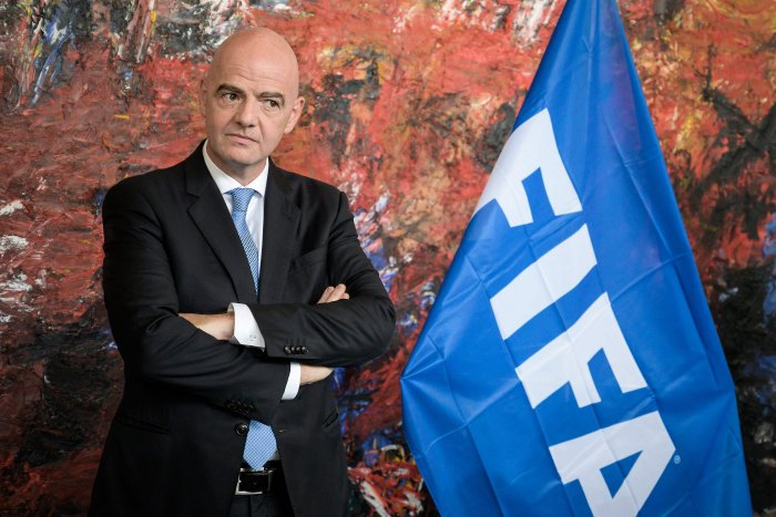 FIFA president Gianni Infantino is suspected to have met a Swiss prosecutor investigating corruption in football to drop an investigation, according to a report of Swiss regional daily newspaper La Tribune de Geneve. (AFP photo)