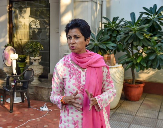 Haryana Congress chief Kumari Selja. (PTI Photo)