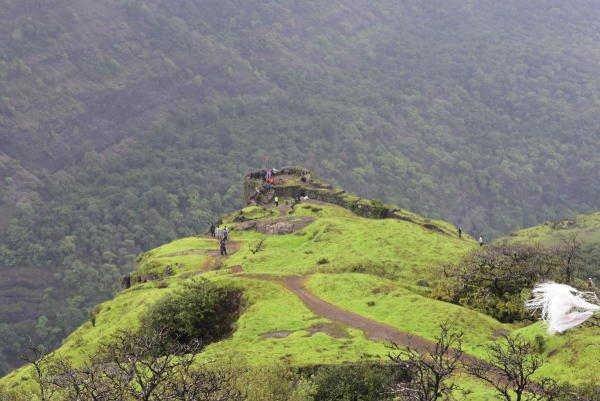 Rajmachi Fort in Maharashtra.