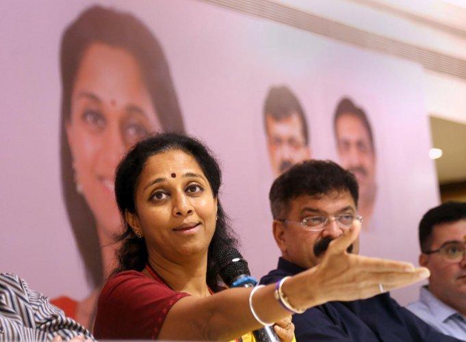 NCP leader Supriya Sule. (PTI Photo)