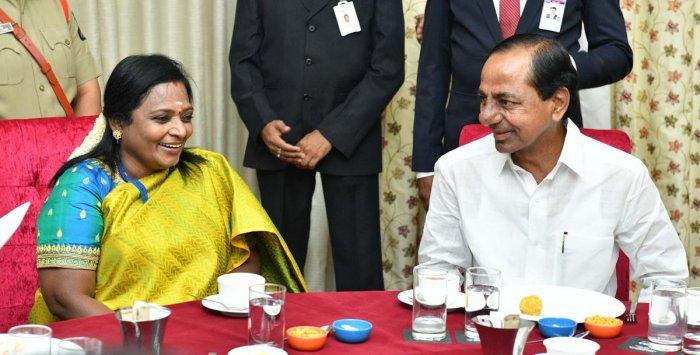 Tamilisai Soundararajan (Left). File photo