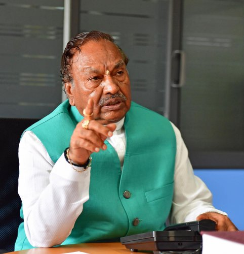 Rural Development and Panchayat Raj Minister K S Eshwarappa