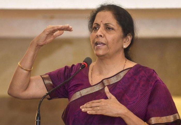 Nirmala Sitharaman file photo