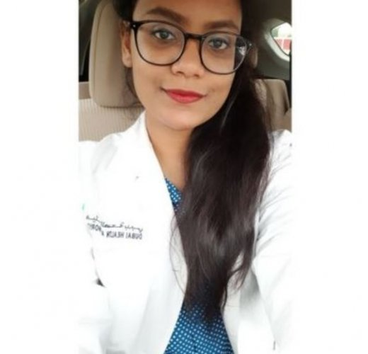 Ayesha Sultana, who is from Hyderabad, was returning home on Tuesday night after completing her shift at the Al Ahli Screening centre in Dubai when she was stopped by a policeman at the Dubai-Sharjah highway, the Khaleej Times reported. Credit: Twitter (AyeshaSultana95)