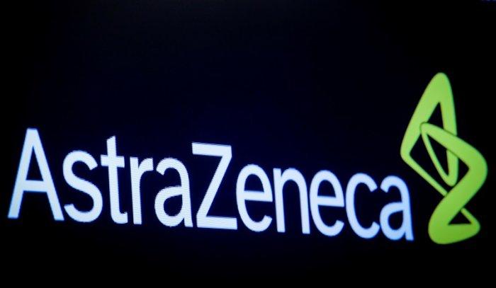 The company logo for pharmaceutical company AstraZeneca. (Reuters Photo)