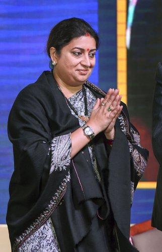 Union Minister of Textiles and Women & Child Development Smriti Irani. (PTI Photo)