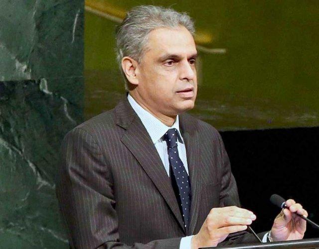 India's outgoing Permanent Representative to the UN Ambassador Syed Akbaruddin.