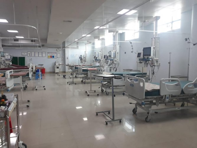 The well-maintained Covid ward at Victoria Hospital.