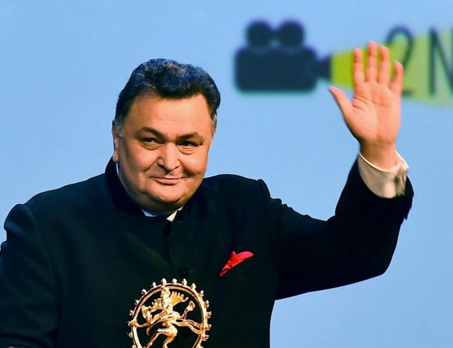 In this Sept 02, 2016 file photo, Bollywood actor Rishi Kapoor during inauguration of the BRICS Film Festival at Siri Fort Auditorium in New Delhi. Credit: PTI Photo