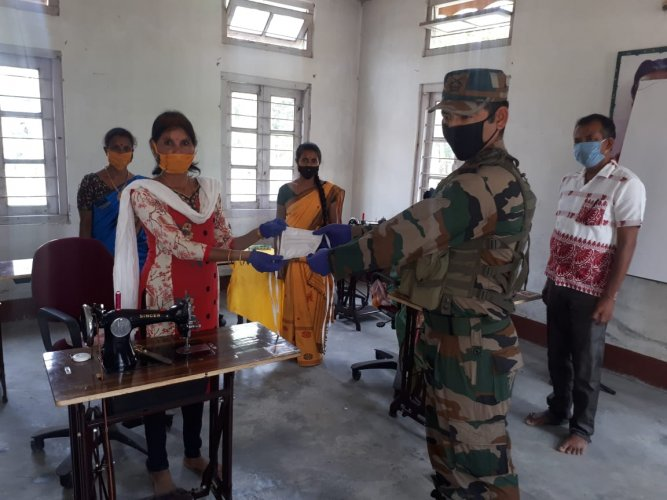 """The Army unit provided Rs 20 for each mask and this helped our women members earn some money,"""" Dulumoni Gogoi, a formerUlfacadre told DH from Darrang on Thursday."""