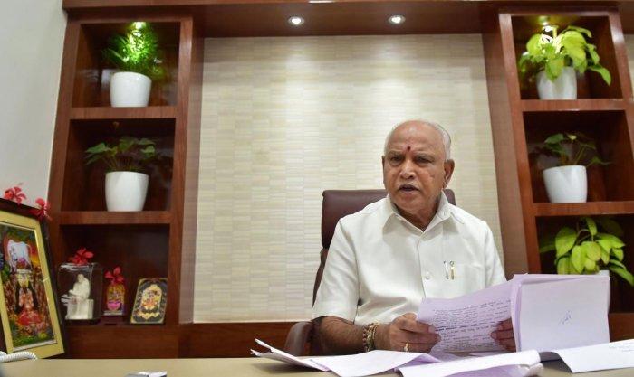 Karnataka Chief Minister B S Yediyurappa (PTI File Photo)