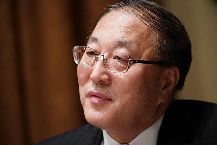 Chinese Representative to the UN Zhang Jun. (AFP Photo)