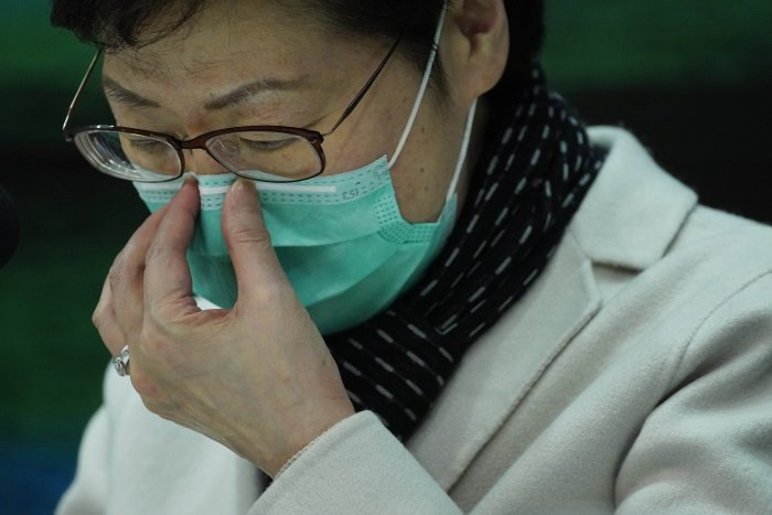 Chinese authorities have been encouraging people to wear face masks covering their mouths and noses, which has led to a surge in demand. (AP Photo)