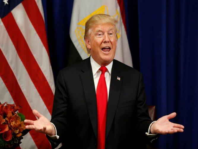 The US President Donald Trump. Reuters file photo