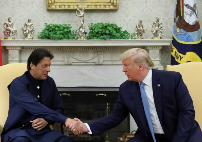 Close on the heels of Prime Minister Narendra Modi registering an impressive win in the 2019 elections, Imran Khan, Prime Minister of an economically bankrupt Pakistan, ran to the White House. There, he dusted out the Afghanistan policy that his predecessors used whenever their coffers went dry. (Reuters File Photo)