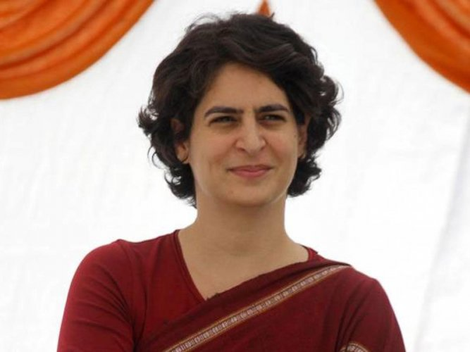 """""""In the name of finding a solution to the economic slowdown, the BJP government is only indulging in media management,"""" Priyanka Gandhi tweeted in Hindi."""