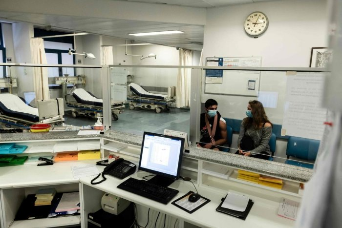 The Nicosia General Hospital is pictured on March 10, 2020 partially closed after its chief heart surgeon was among three cases of novel coronavirus confirmed on the divided eastern Mediterranean island. Credit: AFP Photo