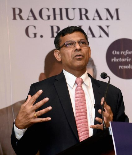 Former RBI governor Raghuram Rajan speaks during the launch of his book 'I do What I do' in Mumbai (PTI Photo)