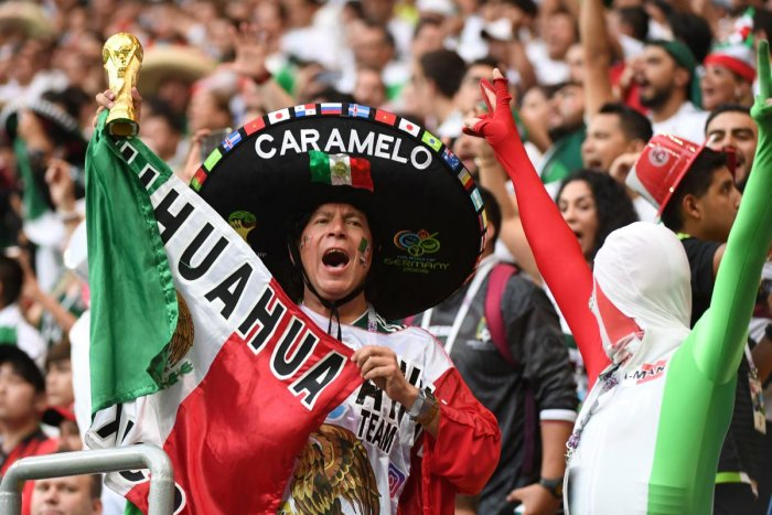 Mexico fans have been enjoying a great time in Russia. AFP