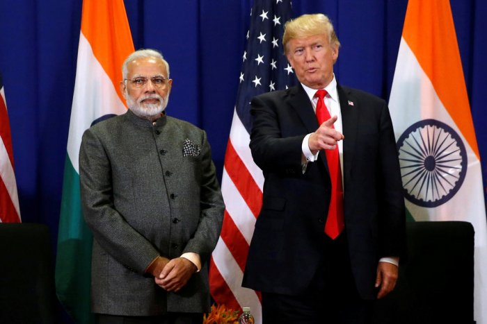 U.S. President Donald Trump holds a bilateral meeting with India's Prime Minister Narendra Modi alongside the ASEAN Summit in Manila, Philippines November 13, 2017. REUTERS file photo