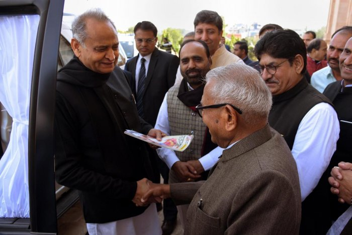 Rajasthan Chief Minister Ashok Gehlot at the State Assembly in Jaipur. PTI file photo