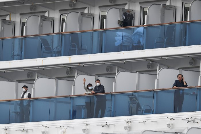 The ship, managed by Princess Cruise Lines and owned by Miami-based Carnival Corp, typically has a crew of 1,100 and a passenger capacity of 2,670.(Credit: AFP Photo)
