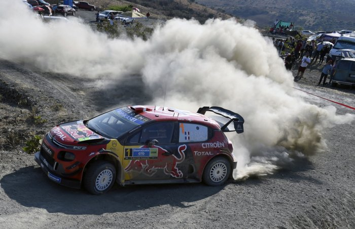 Citroen's Sebastien Ogier in action in the WRC Rally of Mexico. Picture credit: AFP