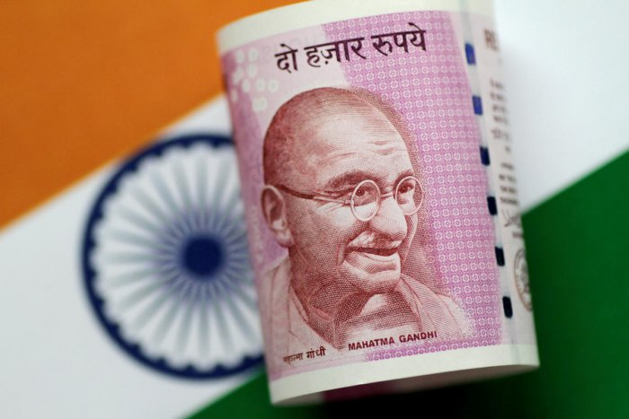 FILE PHOTO: An India Rupee note is seen in this illustration photo. REUTERS