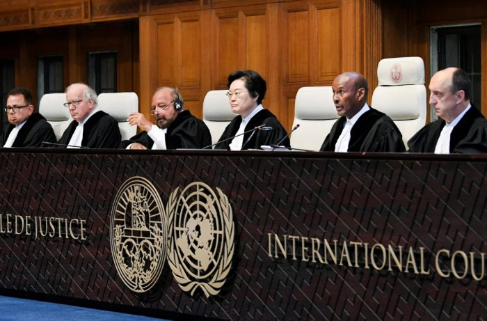 Judges are seen at the International Court of Justice before the issue of a verdict in the case of Indian national Kulbhushan Jadhav. (Reuters File Photo)