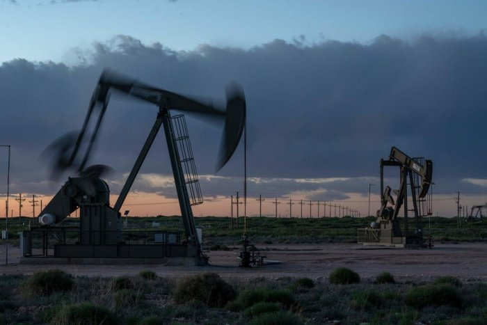 Pump jacks operate near Loco Hills on April 23, 2020 in Eddy County, New Mexico. Credit: AFP Photo