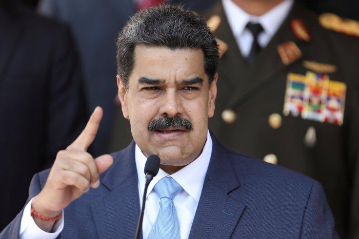Venezuela's President Nicolas Maduro speaks during a news conference. (Credit: Reuters)