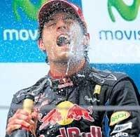 Webber triumphs in Spain