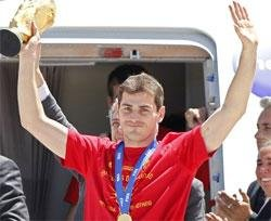 Spain World Cup heroes back home