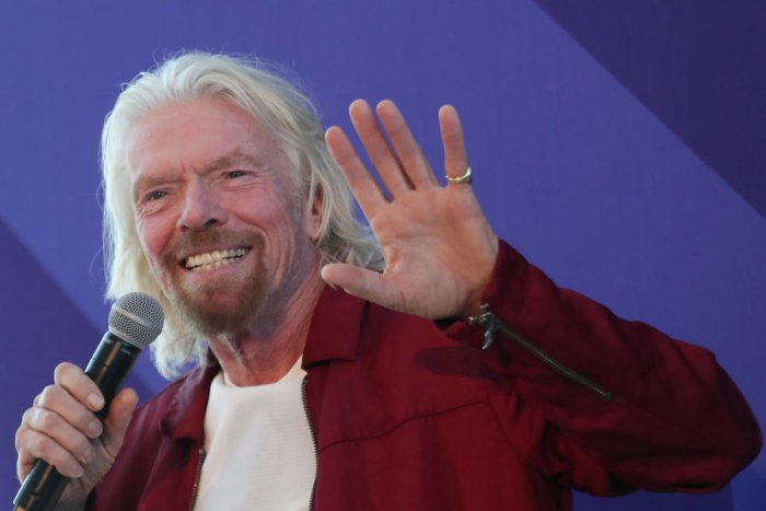 Sir Richard Branson speaks at the unveiling of the Virgin Voyages ship in New York, U.S. Reuters.