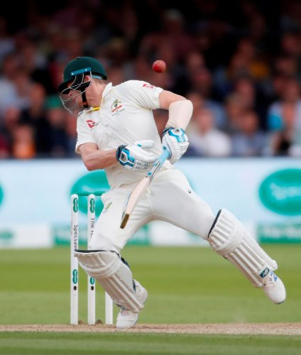 Smith was hit by a raspy, quick Archer bouncer on the fourth day of the second Ashes Test at Lord's (Reuters Photo)