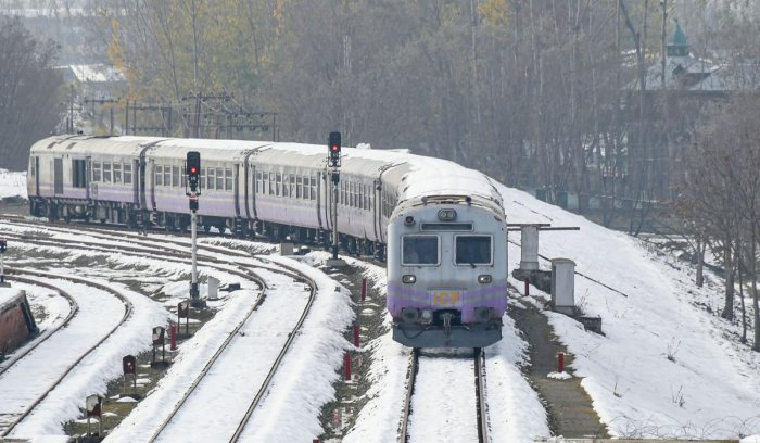 Train services from Banihal to Baramulla and vice-versa will remain suspended till March 31. File photo