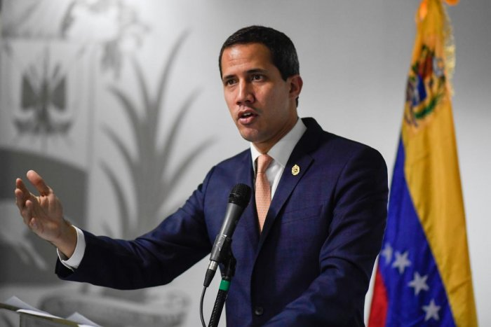 Venezuelan opposition leader and self-proclaimed acting president Juan Guaido (AFP Photo)