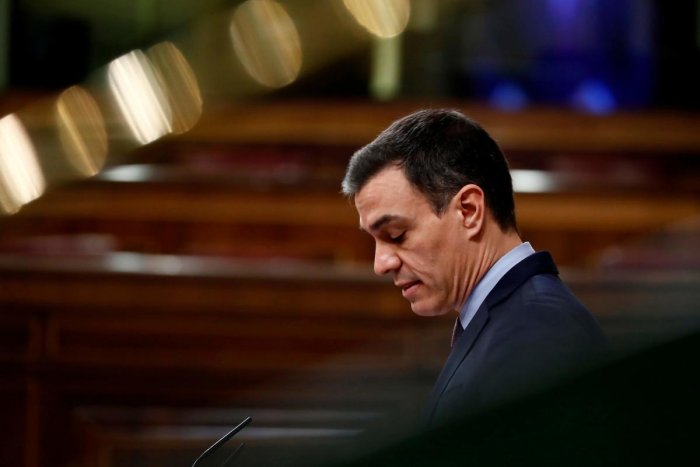 Pedro Sanchez televised an address to warn Spanish citizens of the coming days. AFP