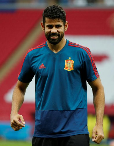 Diego Costa will spearhead Spain's attack against Morocco as they look to grab the top spot in their group.