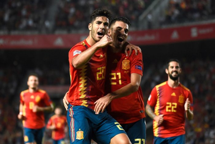 MASTERCLASS Spain's Marco Asensio celebrates after scoring against Croatia on Tuesday. AFP