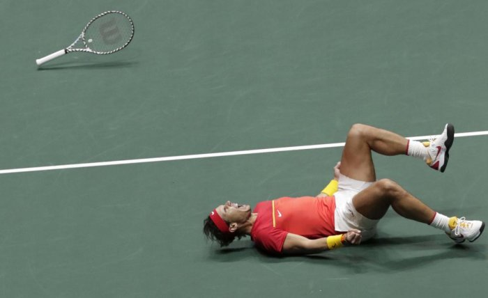 """""""This competition is always dramatic, especially with the new format,"""" said Nadal. (Photo by AP)"""