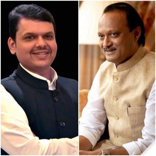 Maharashtra Chief Minister Devendra Fadnavis and Deputy Chief Minister Ajit Pawar. (DH photo)