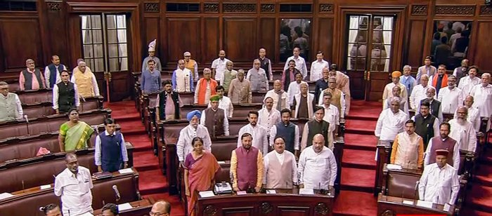 For discussing government bills, 14 hours and 56 minutes were spent while another 5 hours 45 minutes were utilised for discussing Private Members Bills. (Credit: PTI Photo)